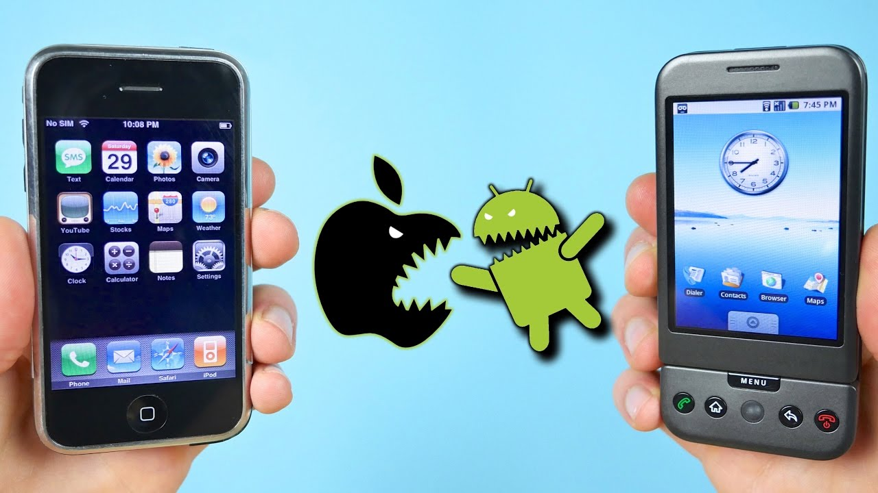 First iPhone vs First Android Phone – [iOS 1.0 vs Android 1.0]