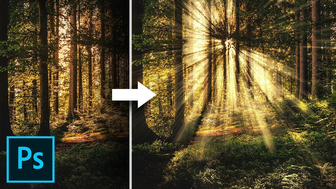Create Light Rays In 3 Simple Steps With Photoshop